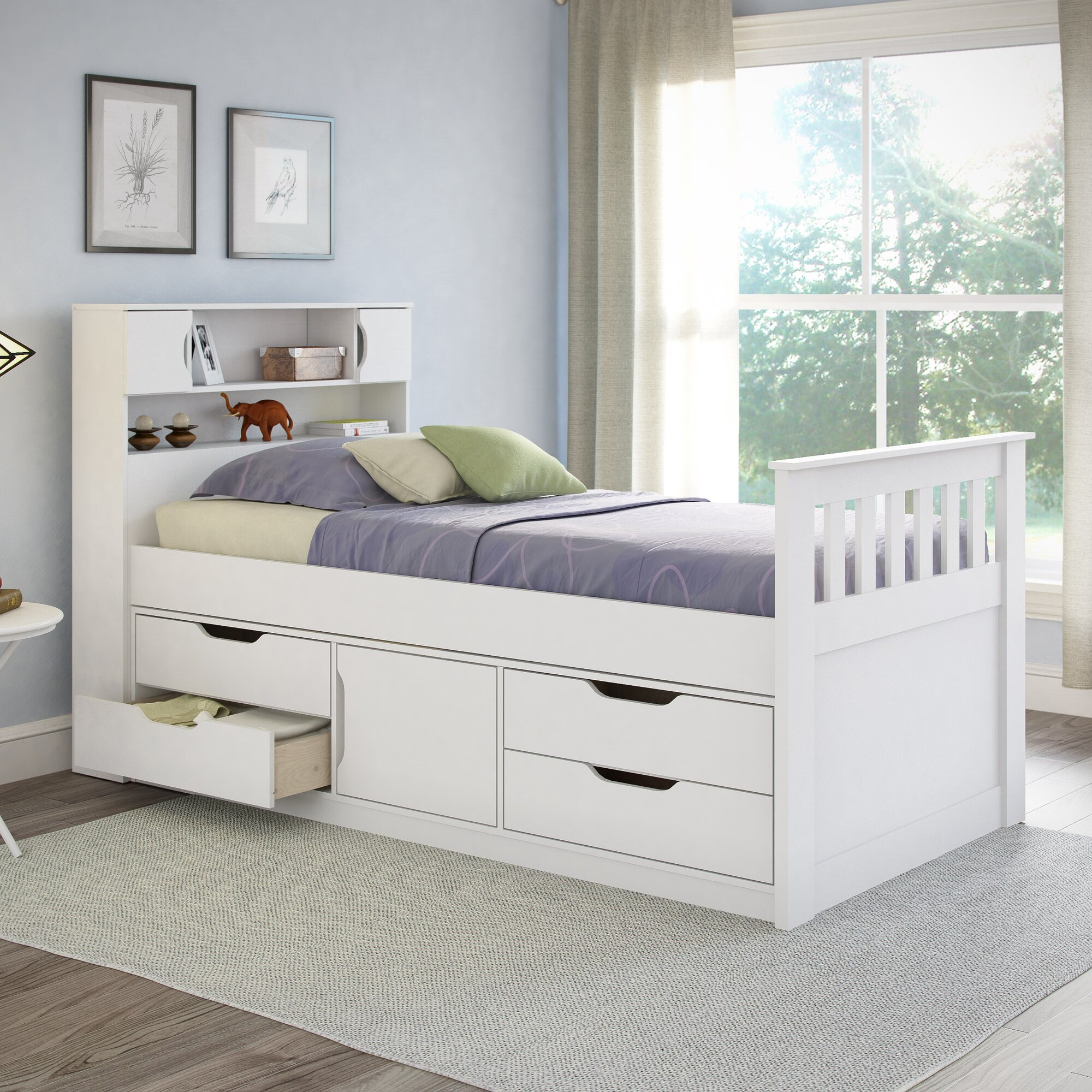 deion twin captain bed with storage - Twin Captains Bed
