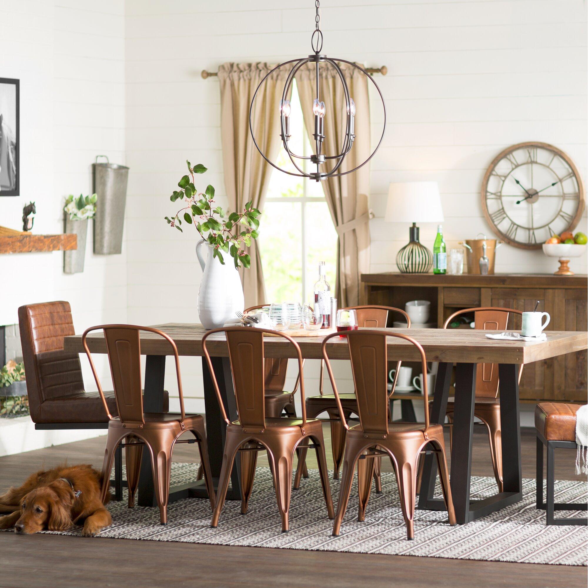 Laurel foundry modern farmhouse adell dining table - Laurel foundry modern farmhouse bedroom ...