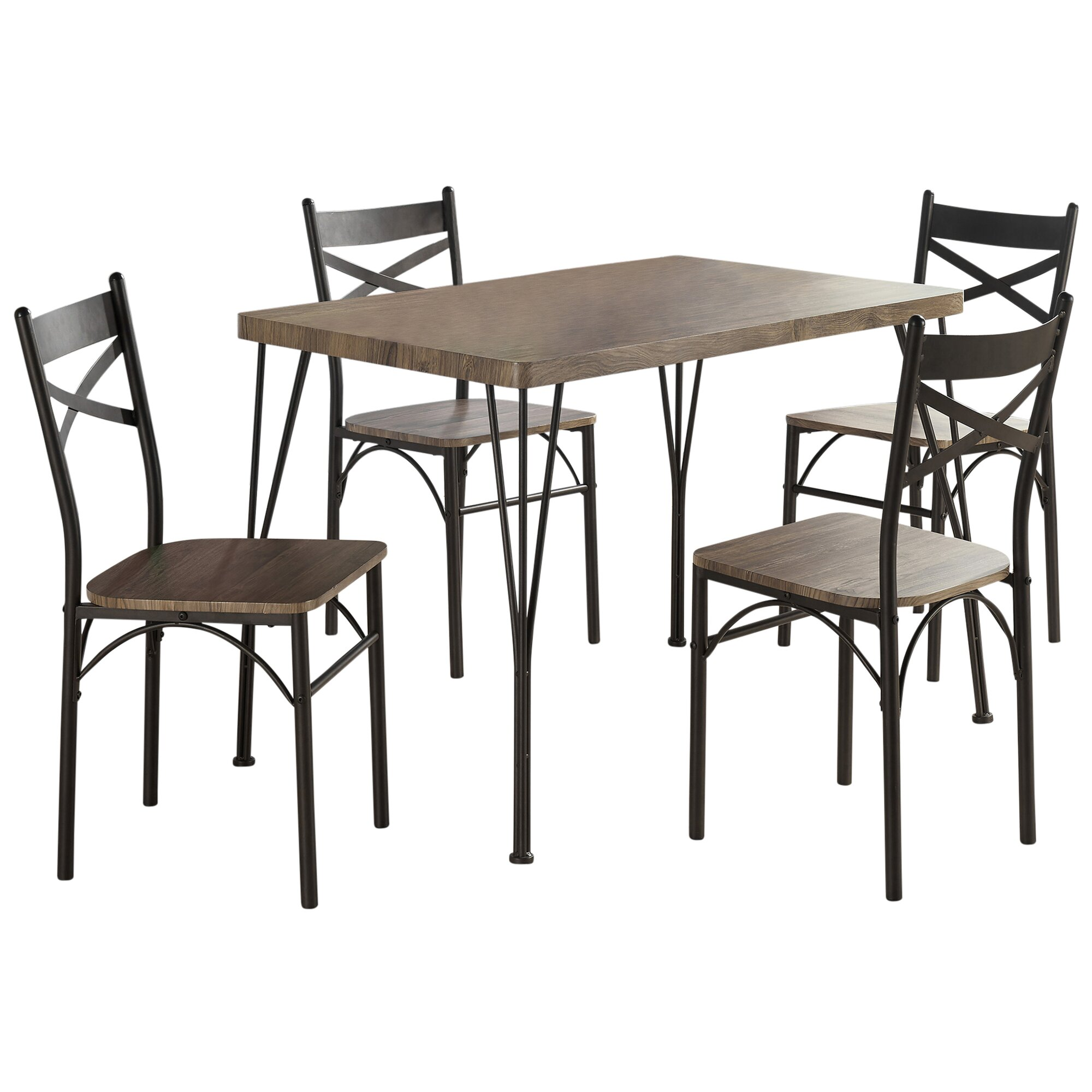 Gracie Oaks Sangerfield 5 Piece Industrial Style Dining