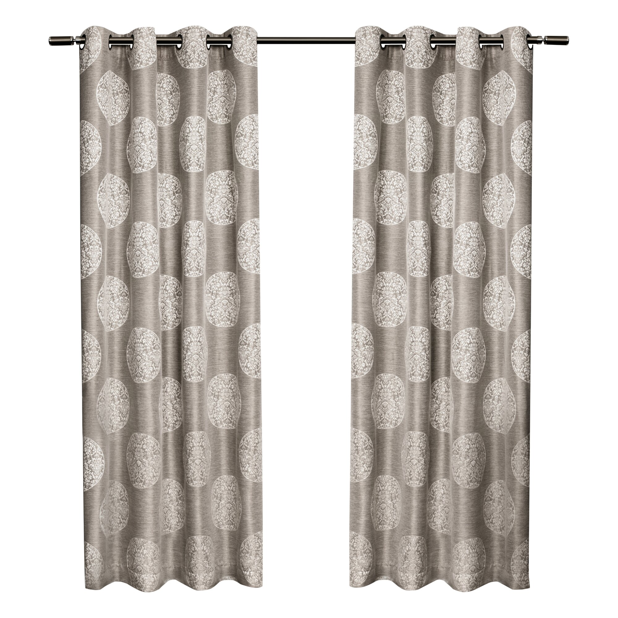 House Of Hampton Sutton Damask Semi Sheer Curtain Panels Reviews