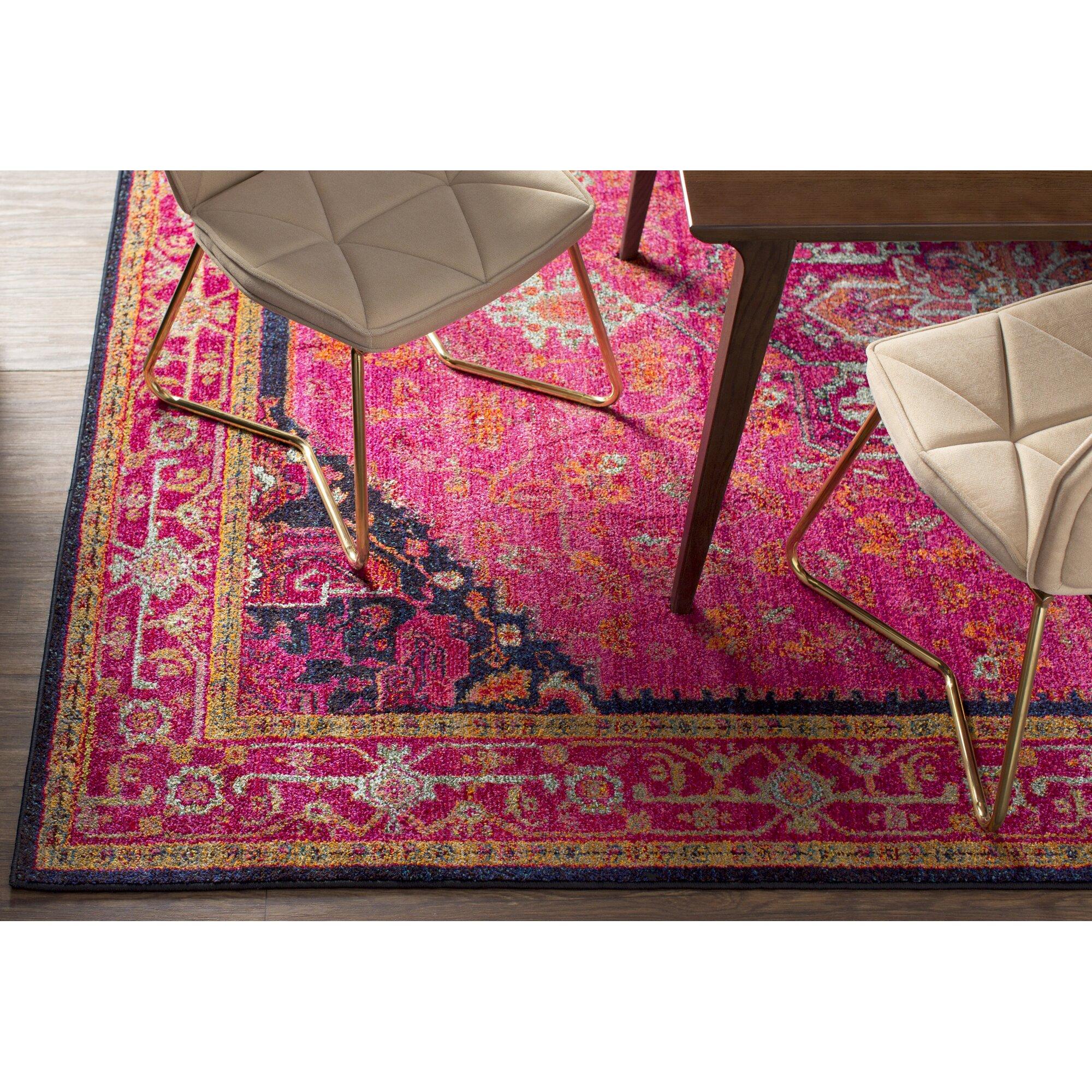 denali pink blue area rug reviews joss main. Black Bedroom Furniture Sets. Home Design Ideas