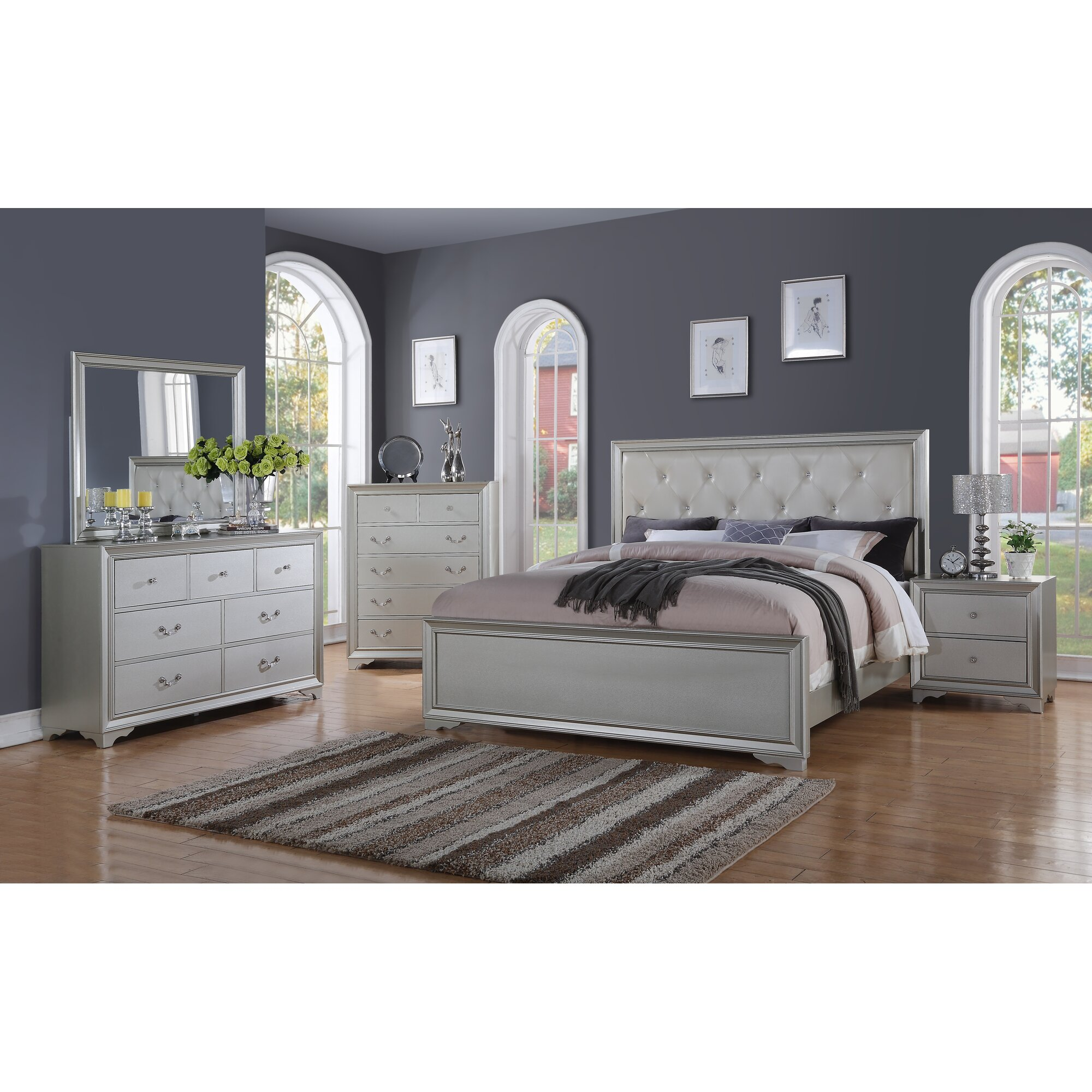 5 piece bedroom set queen