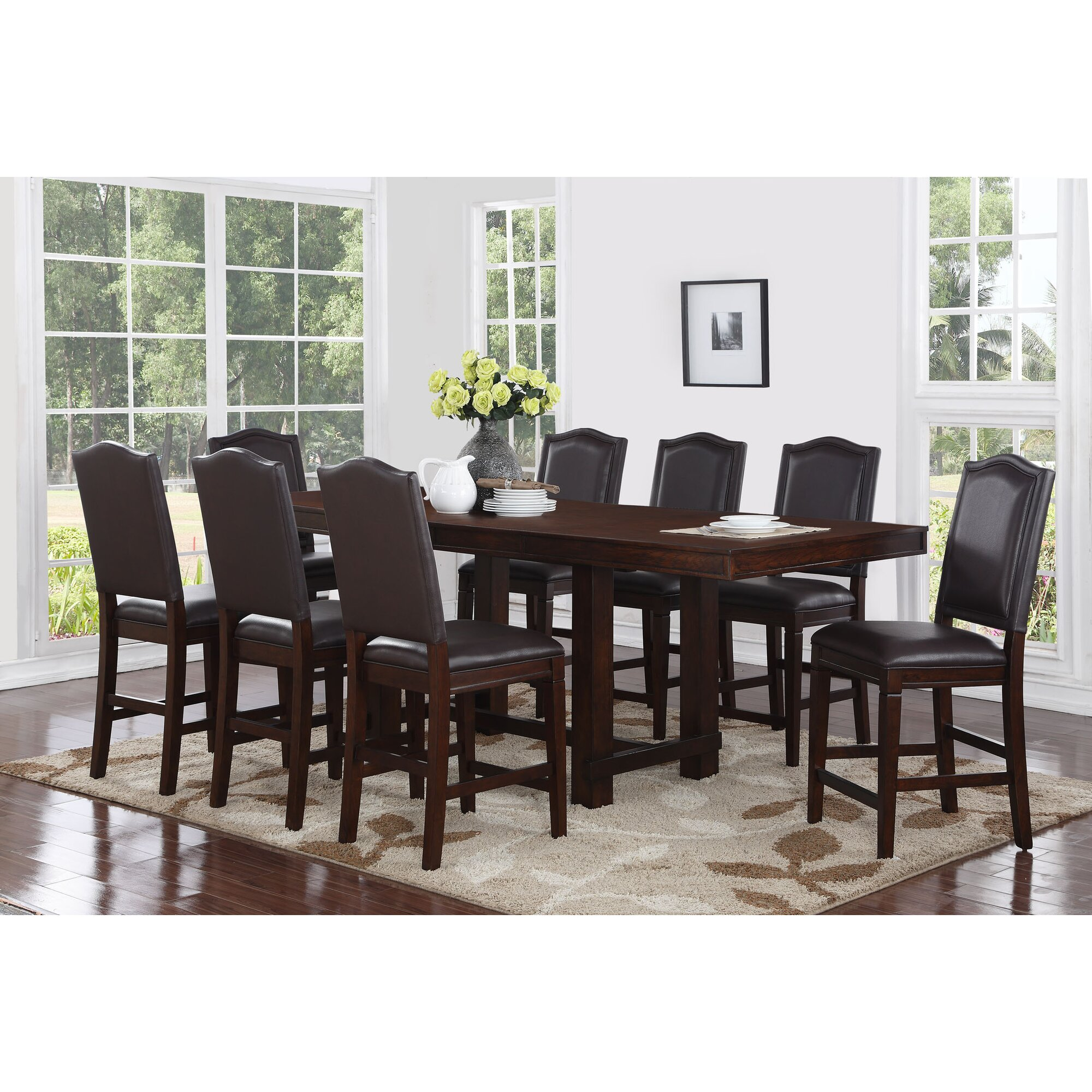 Darby Home Co Marcie 9 Piece Counter Height Dining Set   Wayfair