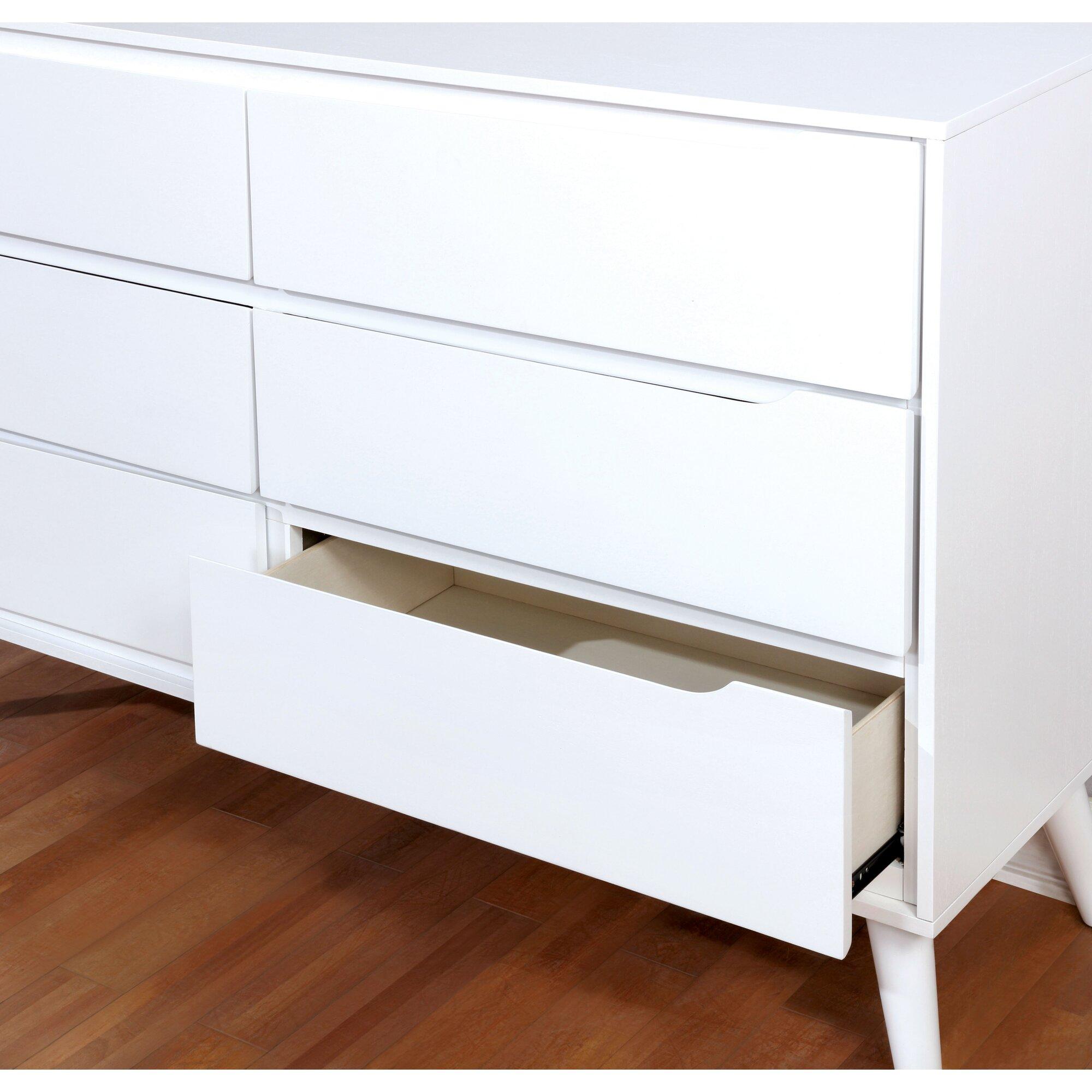 polick midcentury modern  drawer dresser  reviews  allmodern - polick midcentury modern  drawer dresser