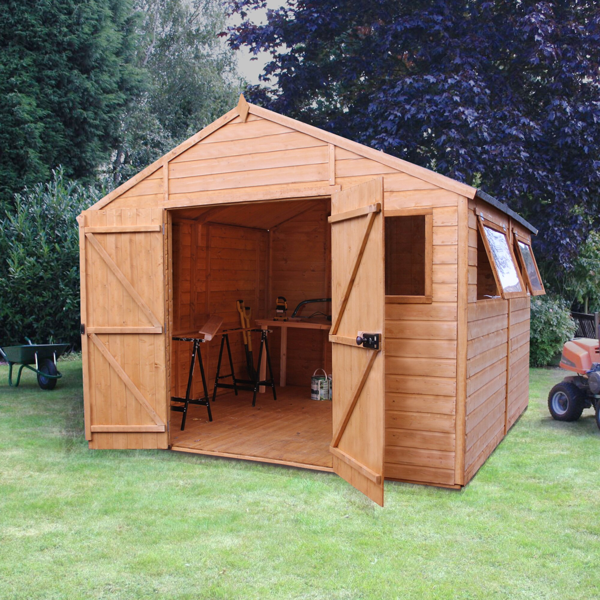 Mercia Garden Products 10 x 10 Wooden Shiplap Storage Shed ...