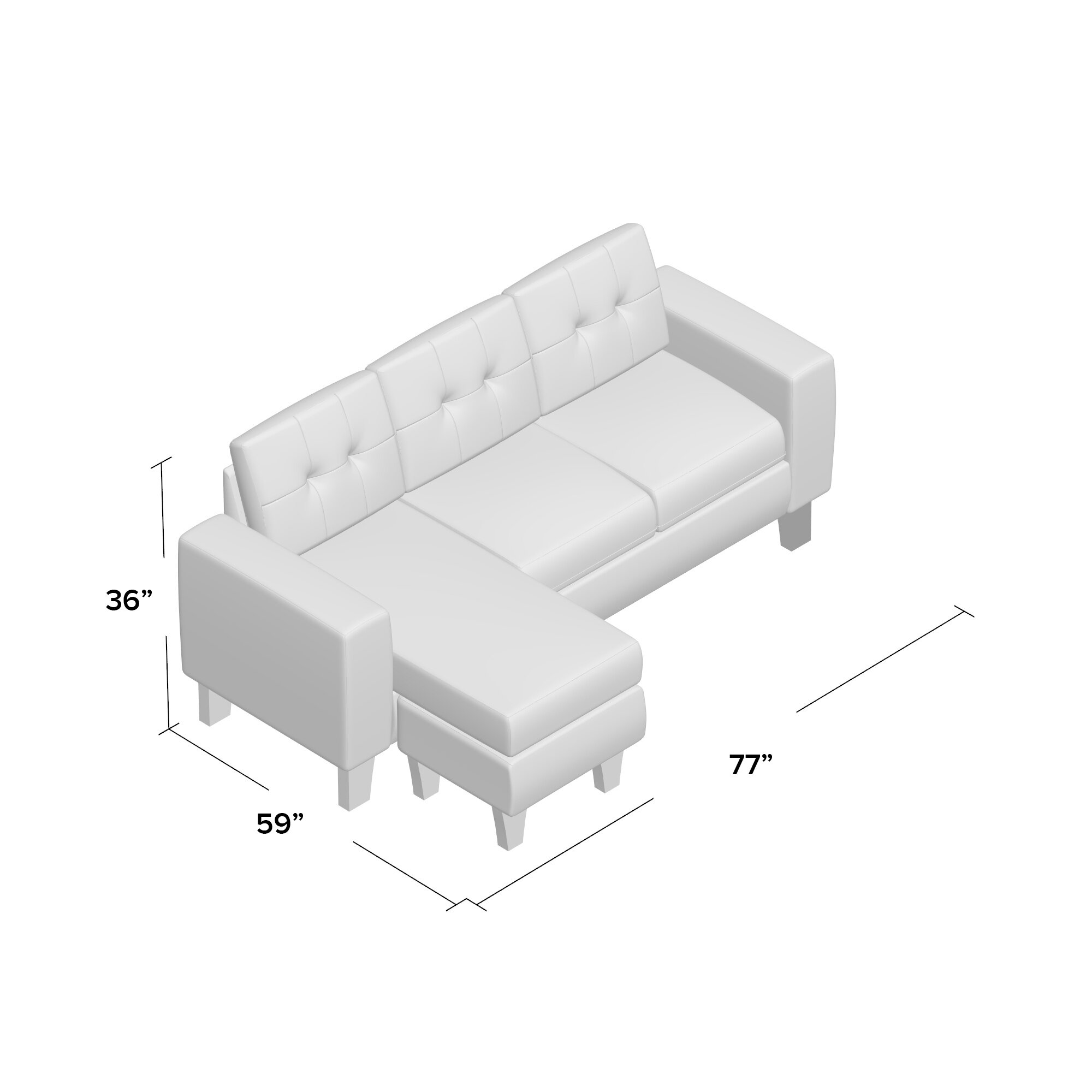 Briley Reversible Chaise Sectional & Reviews