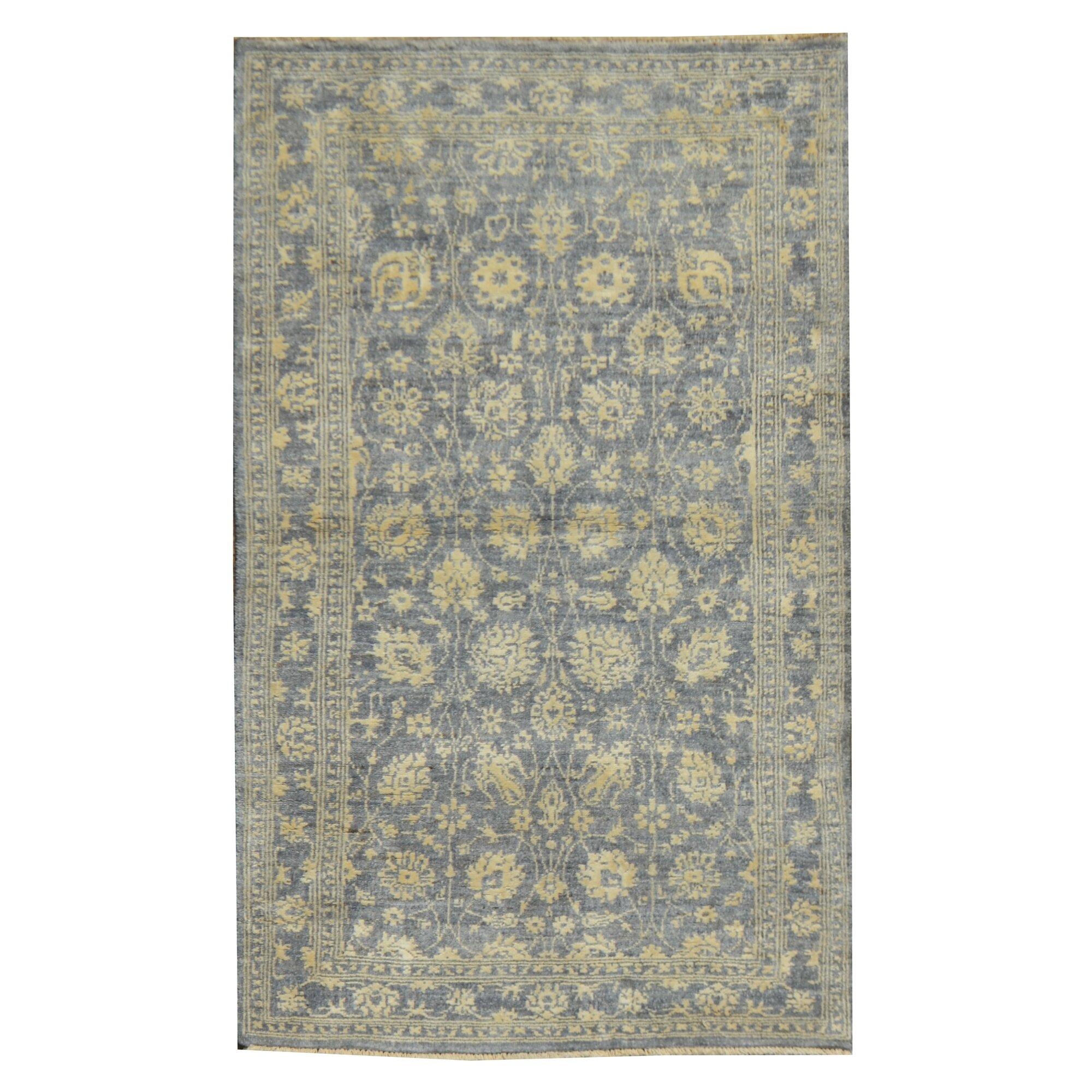 caracella handgewebter teppich silk ziegler in grau gelb. Black Bedroom Furniture Sets. Home Design Ideas