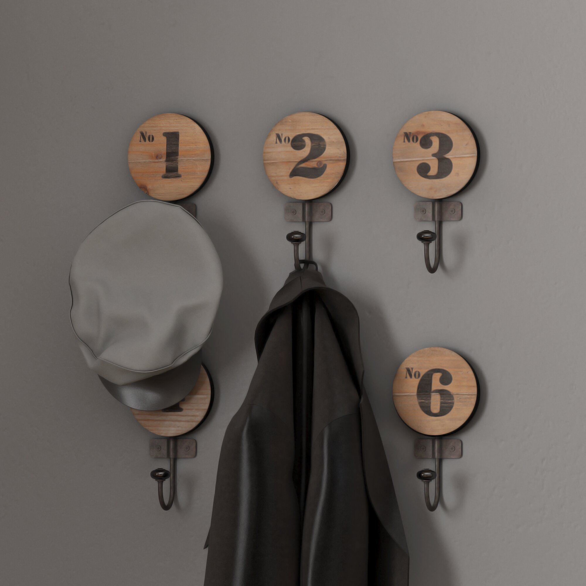 Trent Austin Design Decorative Numbered Wall Hook