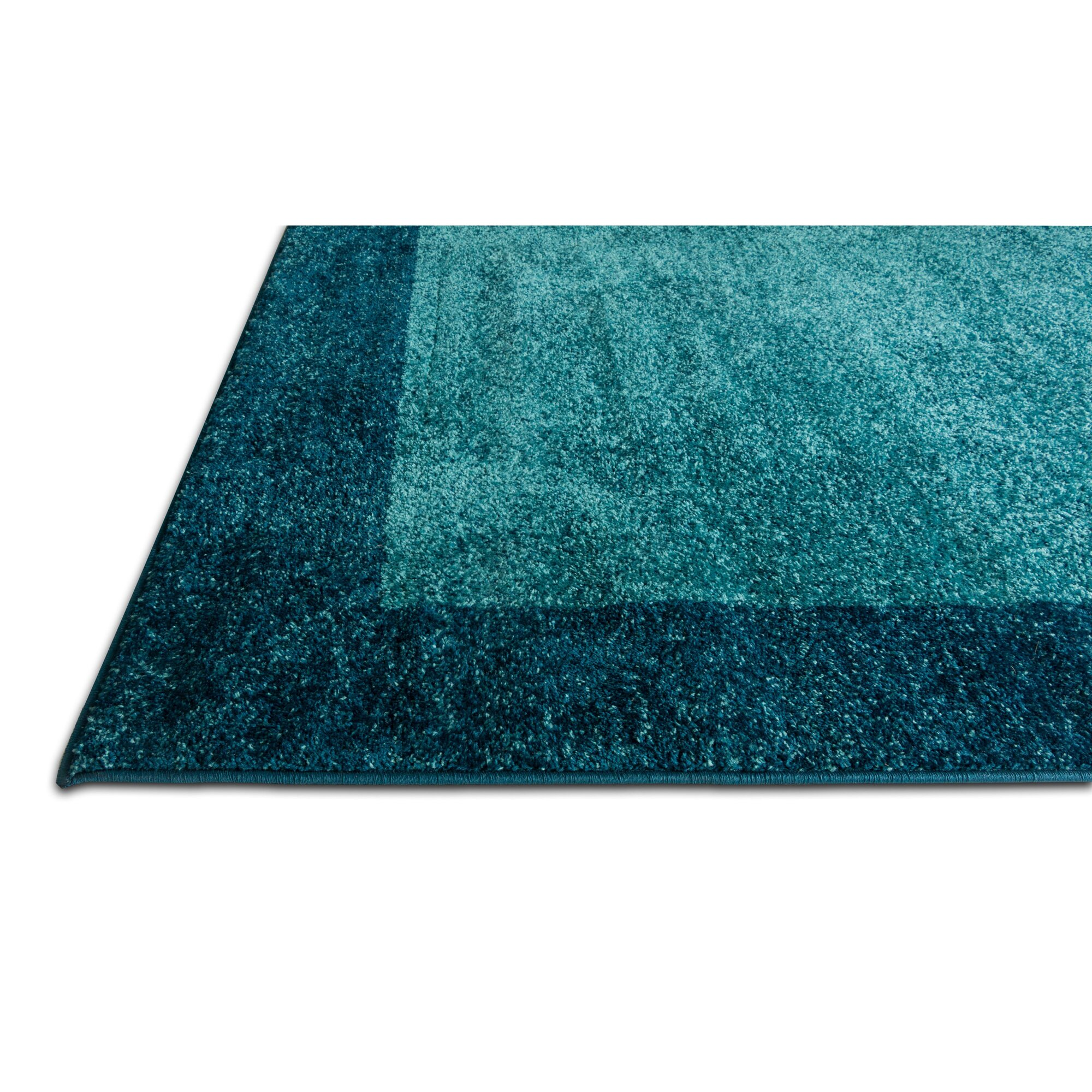 Ebern Designs Angie Transitional Ombre Border Distressed Blue Area Rug : Wayfair.ca