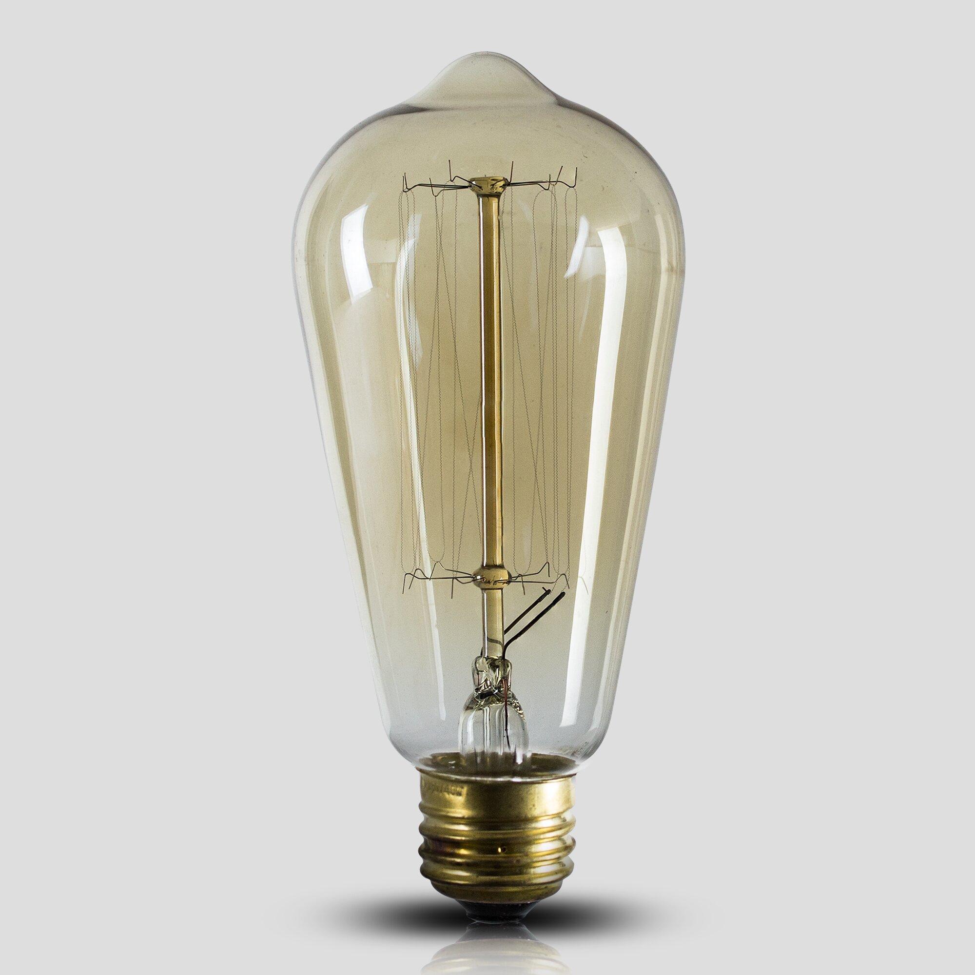 40w Vintage Retro Filament Edison Tungsten Light Bulb: CYRG Edison 40W Incandescent Vintage Filament Light Bulb
