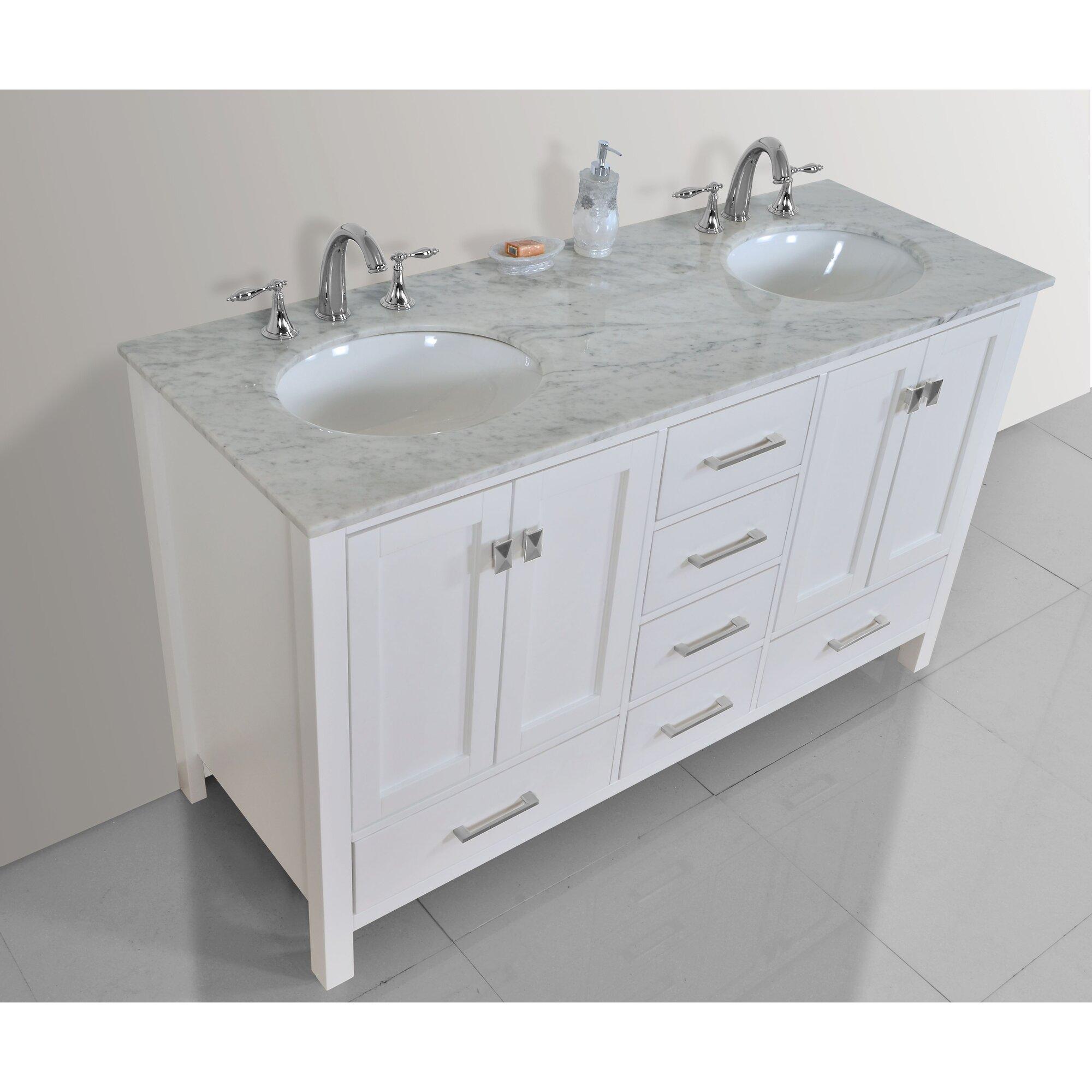 Double bathroom vanity - Ankney 60 Double Bathroom Vanity Set