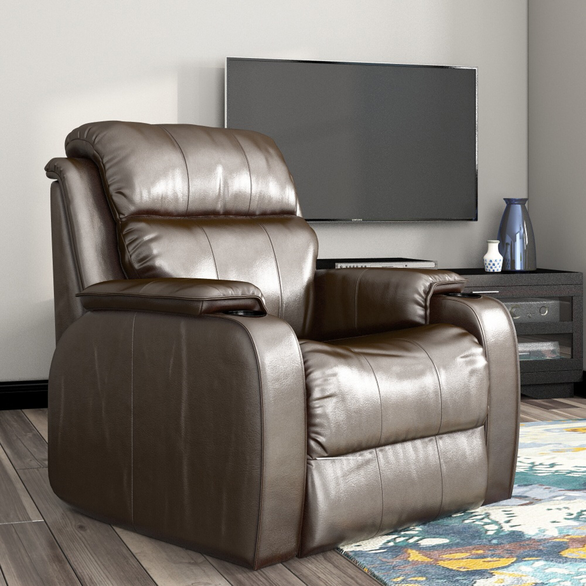 recliners with cup holders and massage