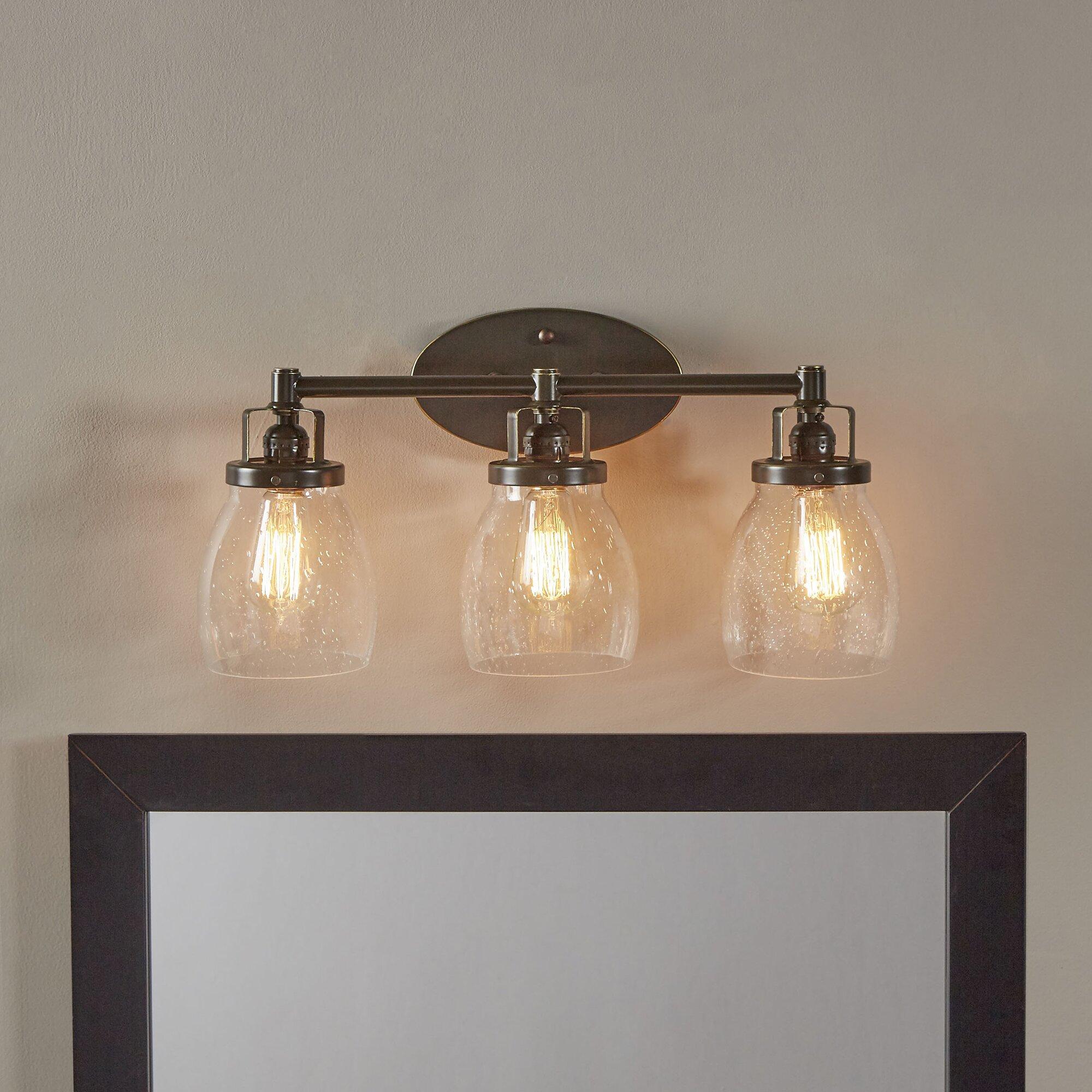 48 Vanity Light Bronze : Yesler Heirloom Bronze 3-Light Vanity Light & Reviews Birch Lane