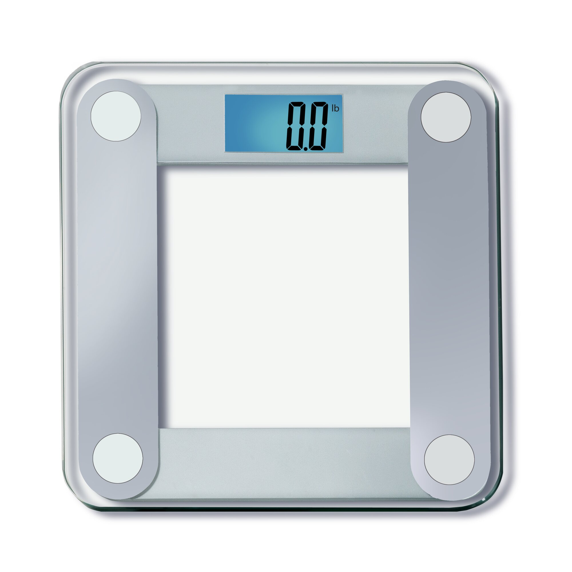 Calibrate digital bathroom scale - Digital Bathroom Scale With Extra Large Backlight In Silver