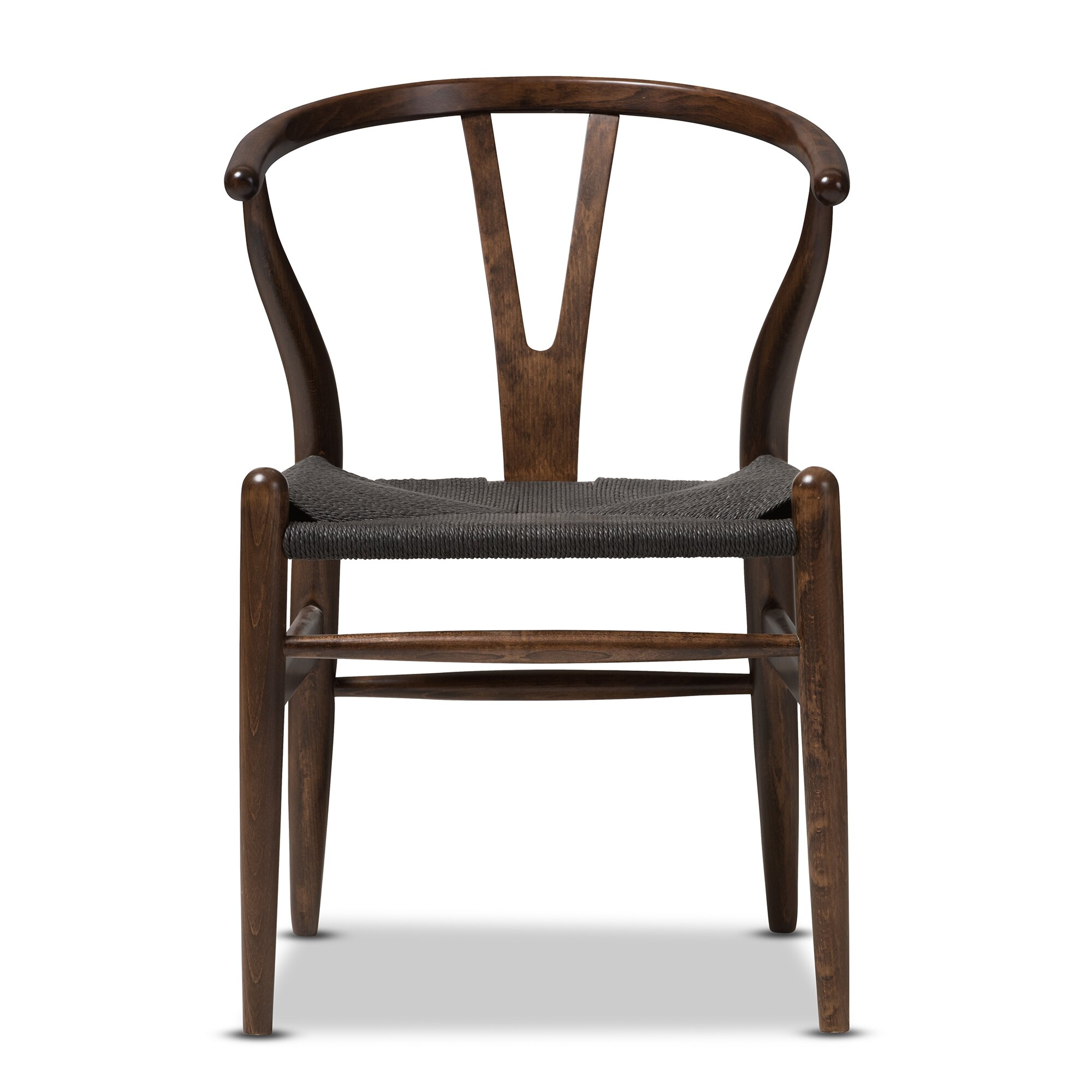 Wholesale Interiors Baxton Studio Wishbone Solid Wood Dining Chair ...