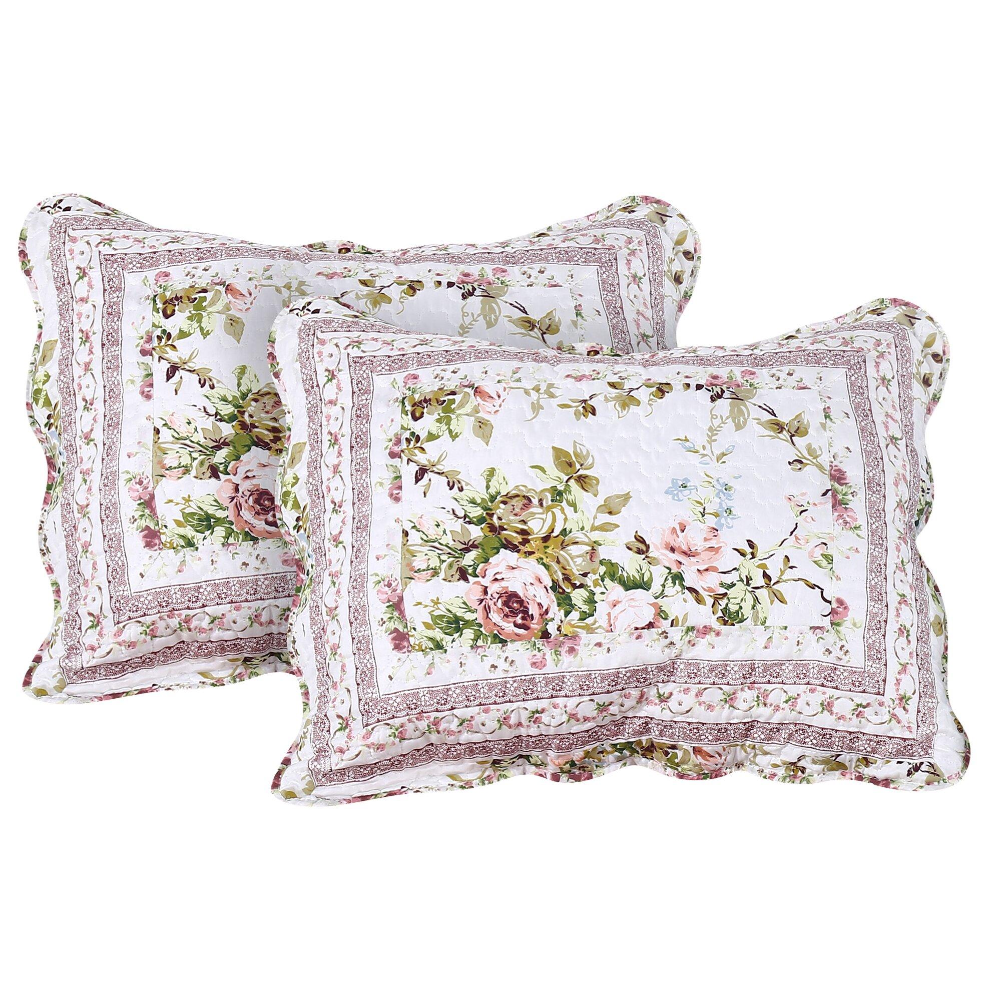 Home Sensation Vintage Chic Reversible Cotton 3 Piece - Primrose garden 3 piece quilt set