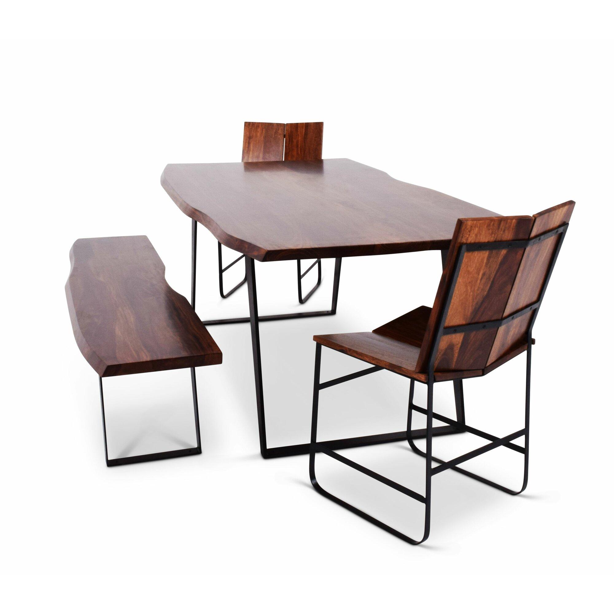Union rustic reilly piece dining set wayfair