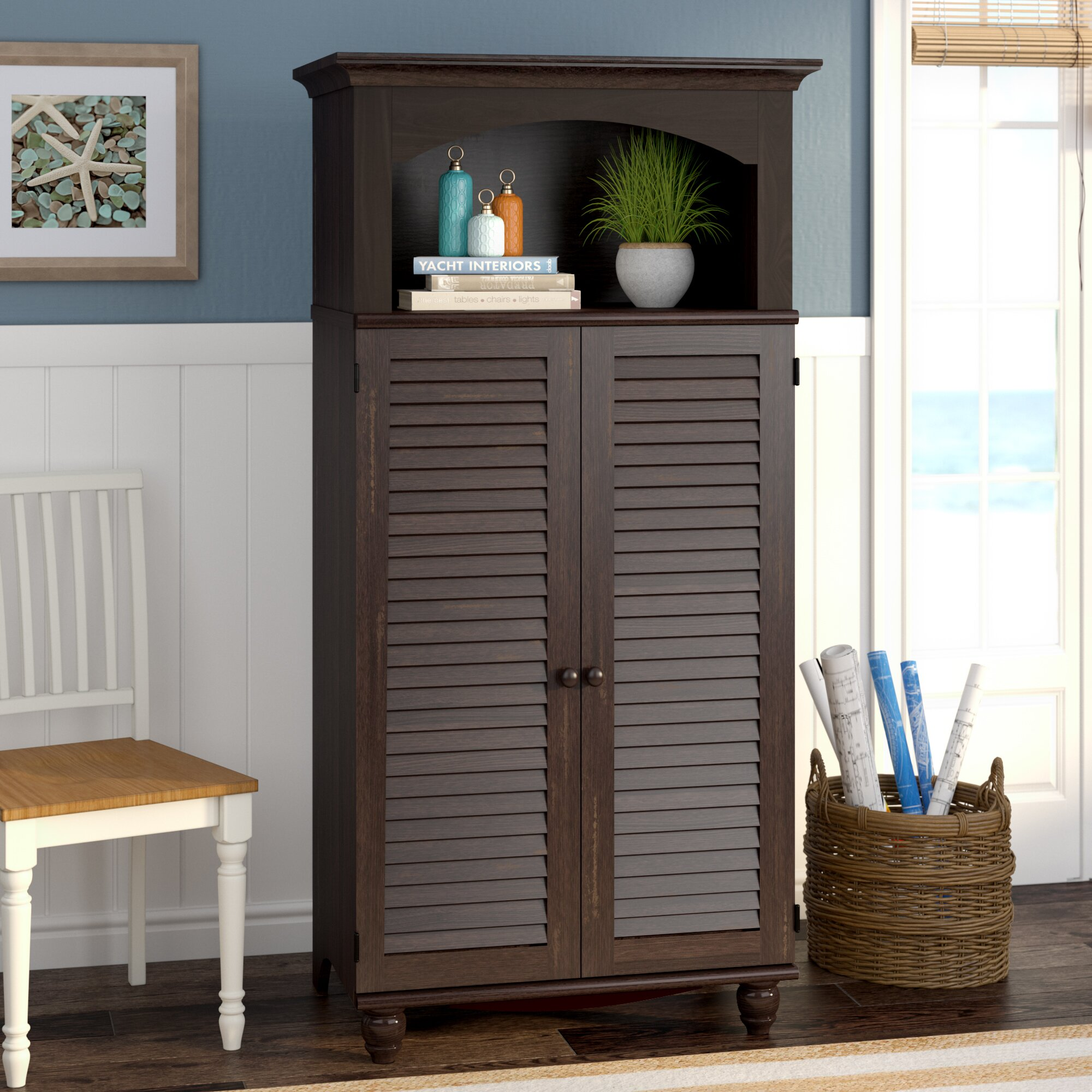 Desk Cabinet: Beachcrest Home Pinellas Armoire Desk & Reviews