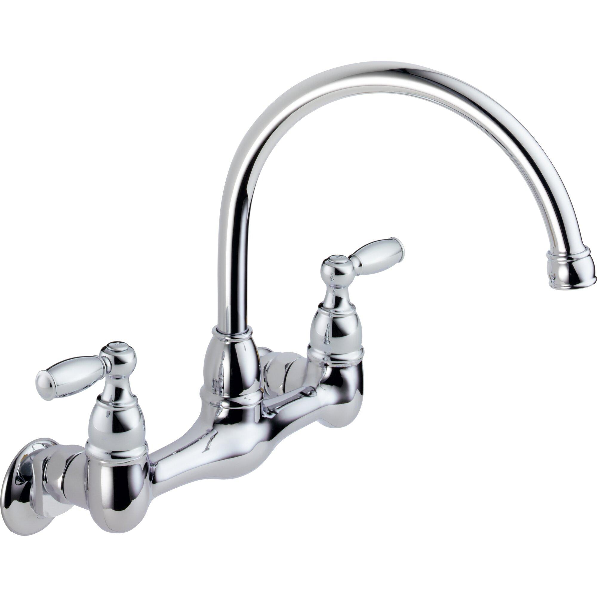 Wall Mount Kitchen Faucet wholesale wall mount kitchen faucet cold water only Two Handle Wall Mounted Kitchen Faucet
