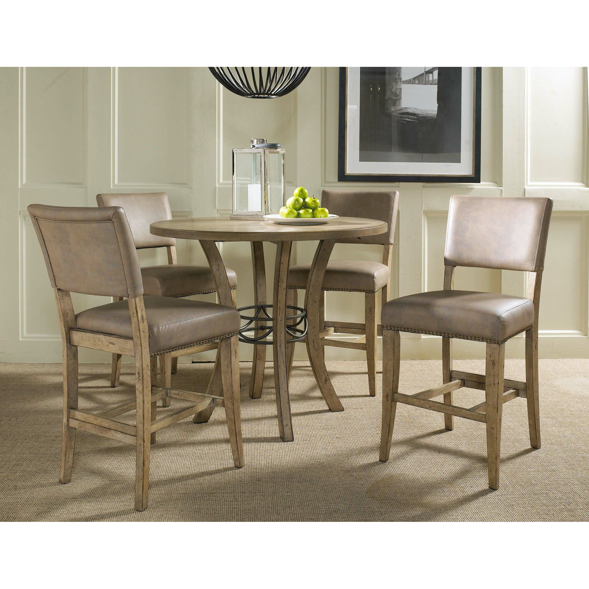 charleston 5 piece round counter height dining set - Height Dining Room Table