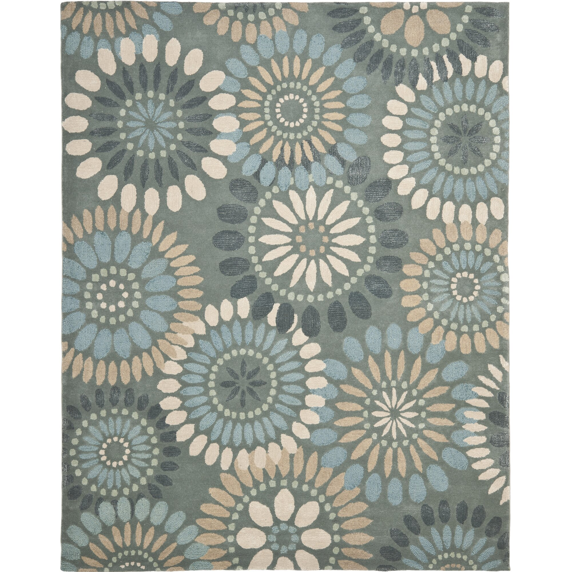 Safavieh Jardin Grey Amp Blue Floral Area Rug Amp Reviews