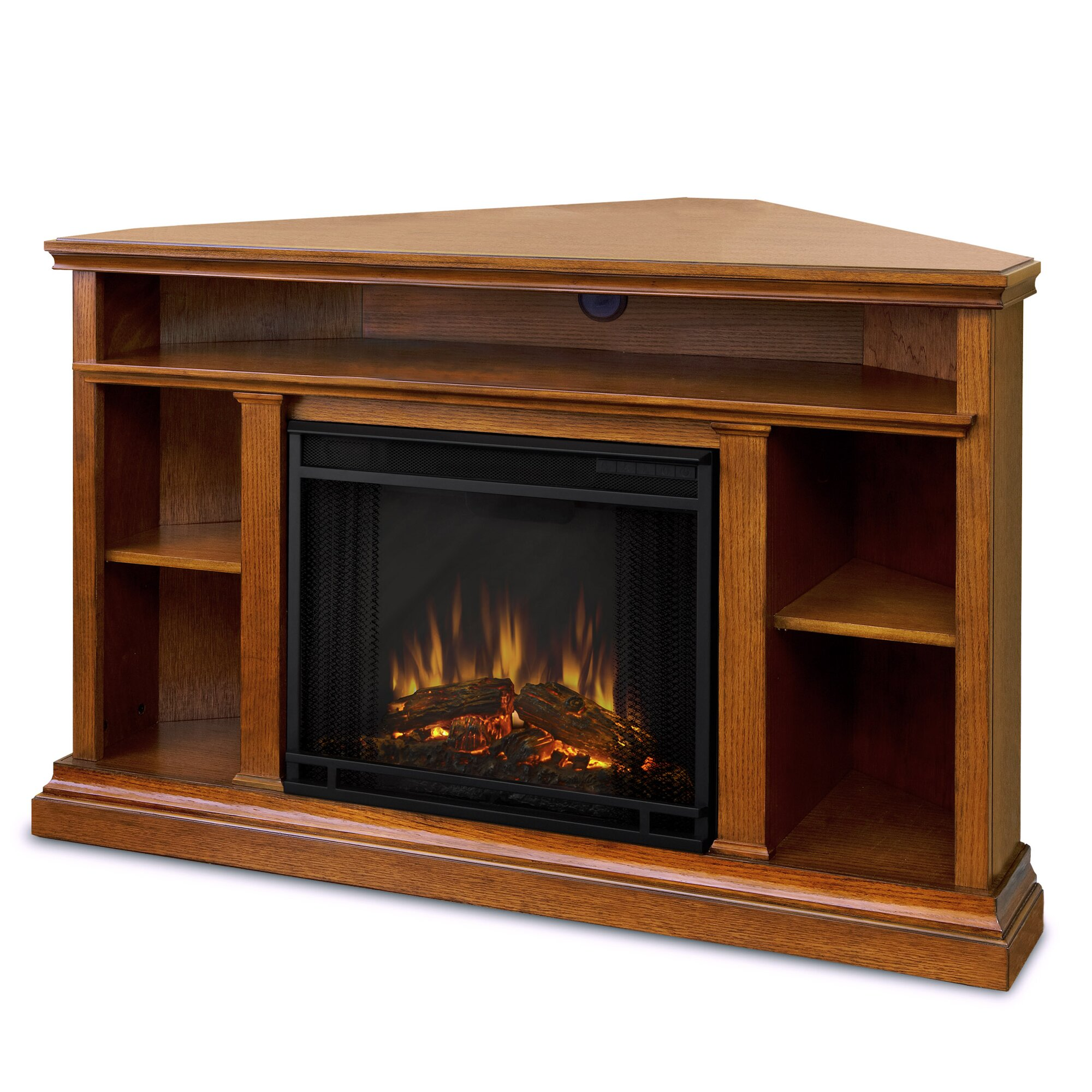 Real Flame Churchill 51 Tv Stand With Electric Fireplace Reviews Wayfair