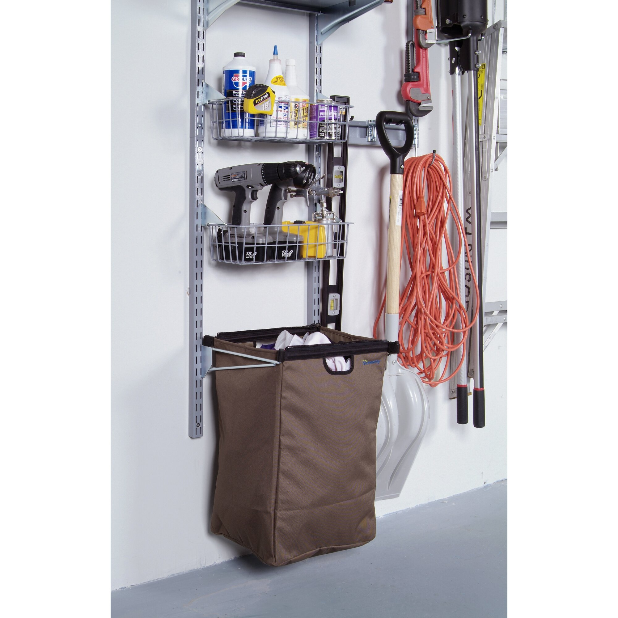 excellent wall mount storage center with heavy duty hanging hooks with wall mount center