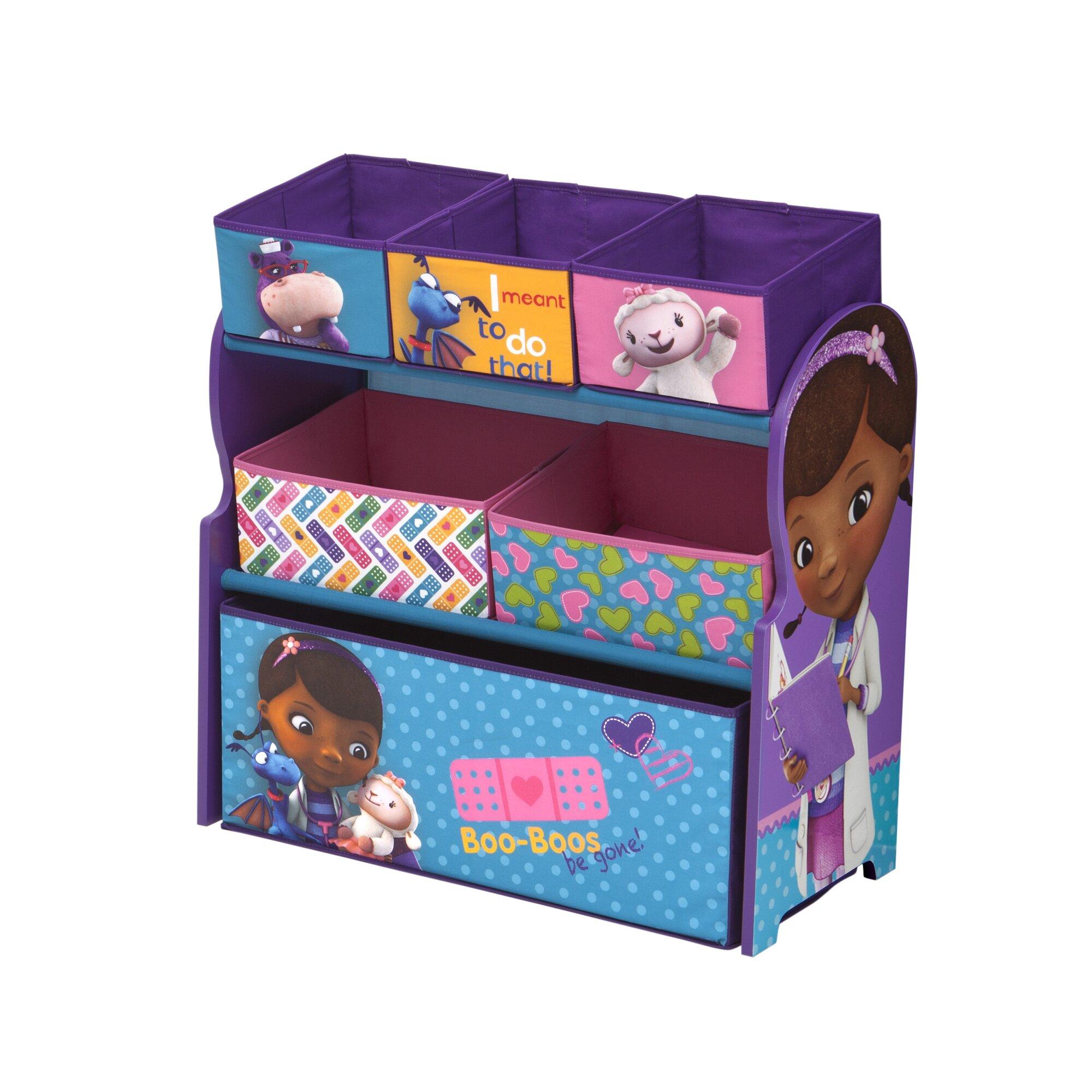 Delta Children Doc McStuffins Multi Bin Storage Organizer ...