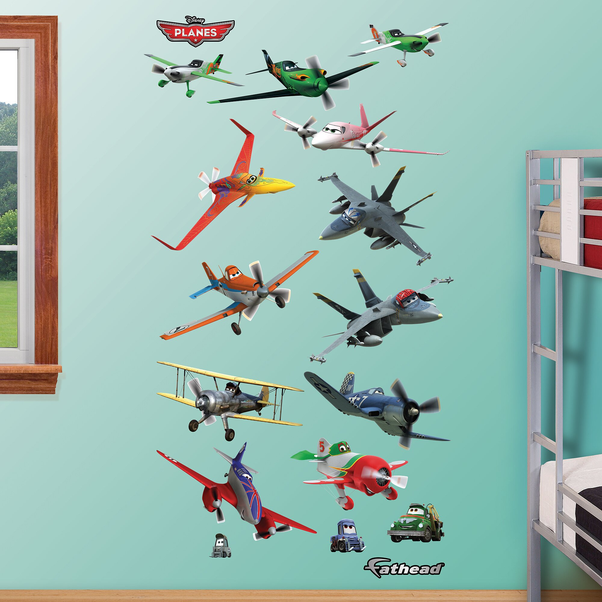 Aeroplane wall decals wall murals ideas fathead disney planes wall decal reviews amipublicfo Image collections