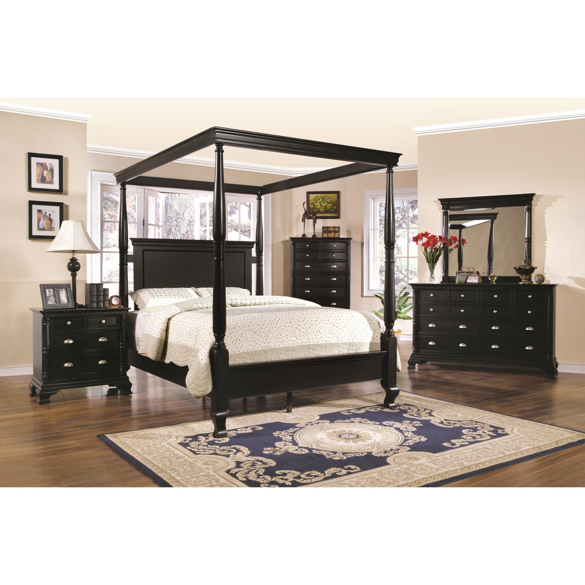 Wildon Home St Regis Queen Canopy Customizable Bedroom Set Reviews Wayfair