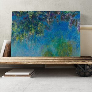 'Wisteria' by Claude Monet Painting Print on Canvas