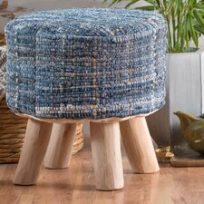 Bogan Fabric Round Accent Stool by World Menagerie
