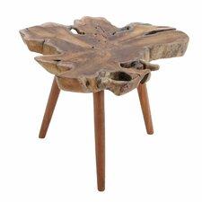 Wood Teak End Table