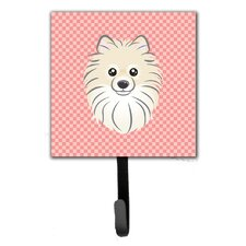 Checkerboard Pomeranian Wall Hook by Caroline's Treasures