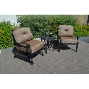 Elizabeth 3 Piece Deep Seating Group With Cushion