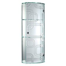 15 W x 33 H Glass Wall Mounted Cabinet by Fab Glass and Mirror