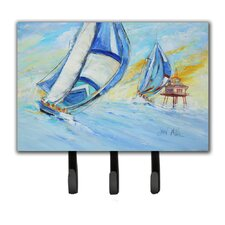 Sailboats and Middle Bay Lighthouse Leash Holder and Key Hook by Caroline's Treasures