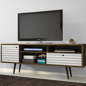 Lewis Mid Century Modern 70.86 TV Stand with 4 Shelving Spaces and 1 Drawer by George Oliver