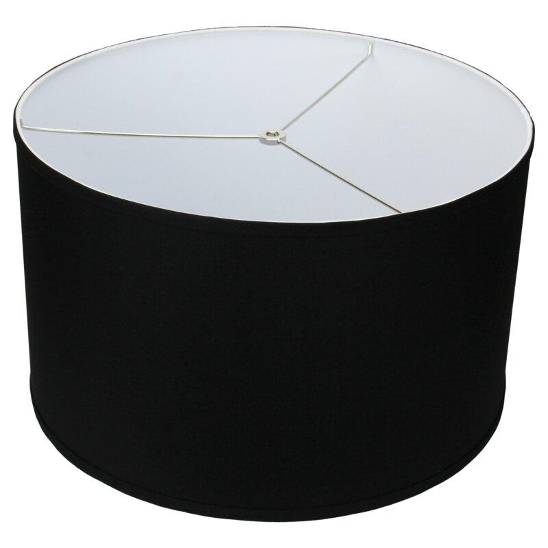 fenchel shades 18 linen drum lamp shade reviews. Black Bedroom Furniture Sets. Home Design Ideas