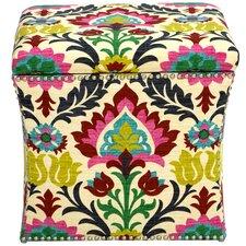 Fleurette Nail Button Storage Ottoman by Mistana