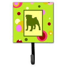 Pug Leash Holder and Wall Hook by Caroline's Treasures