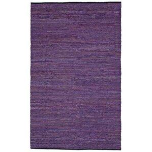matador handloomed purple area rug