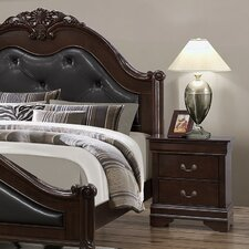 Lawrence 2 Drawer Nightstand by Astoria Grand