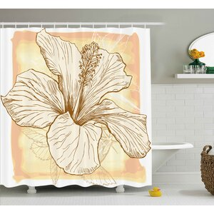 Hibiscus Flower Shower Curtain East Urban Home