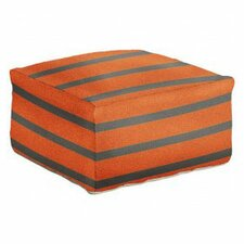 Ira Striped Pouf by Latitude Run