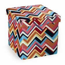 Foldable Storage Cube Ottoman by Seville Classics