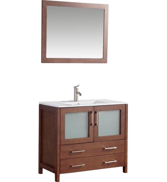 36 single bathroom vanity set with mirror