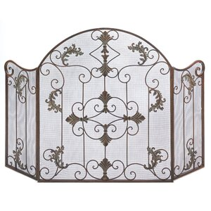 Embellished Wrought Iron Fireplace Screen by Zingz & Thingz