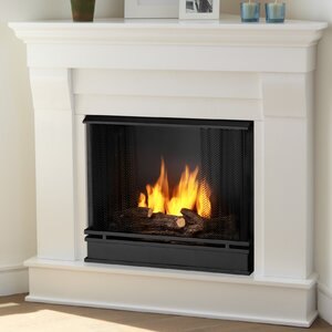 Chateau Corner Gel Fuel Fireplace by Real Flame