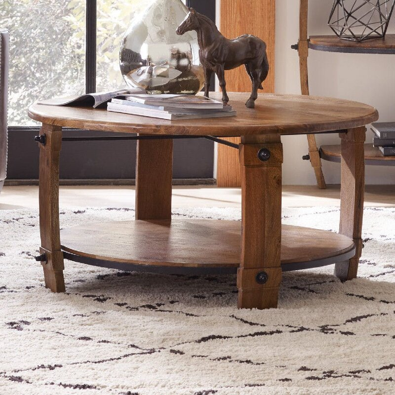hooker furniture glen hurst round wine barrel coffee table with